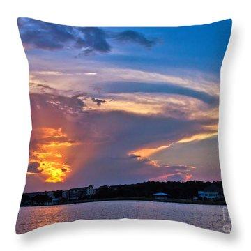 Ocean Isle Sunset Throw Pillow