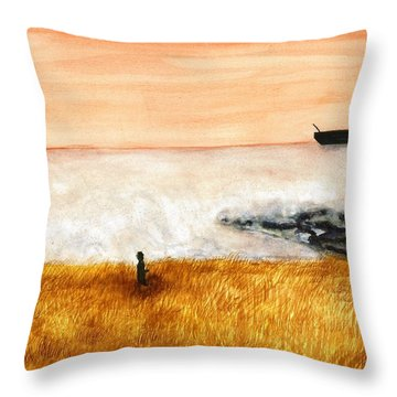 Ocean Mist 3 Throw Pillow