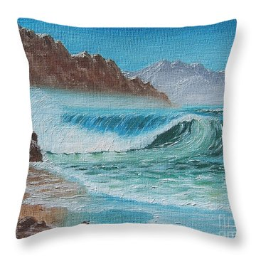 Ocean Mist Throw Pillow