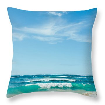 Throw Pillow featuring the photograph Ocean Of Joy by Sharon Mau