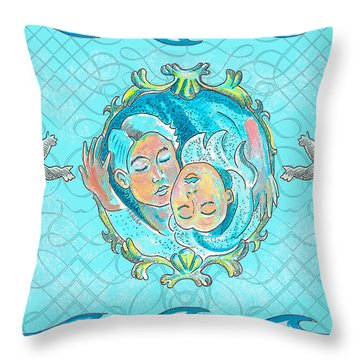 Throw Pillow featuring the painting Ocean Of Love by John Keaton