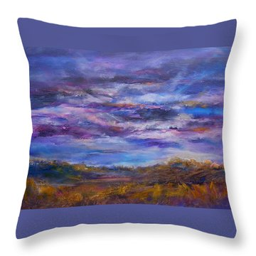 Throw Pillow featuring the painting Nightlight by Mary Schiros
