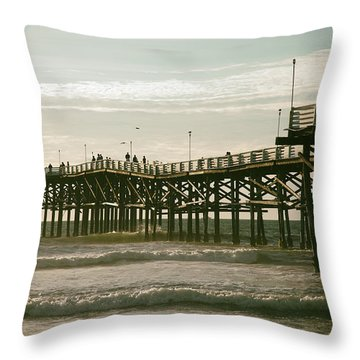 Ocean Pier 1 Throw Pillow
