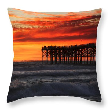 Ocean Pier II Throw Pillow
