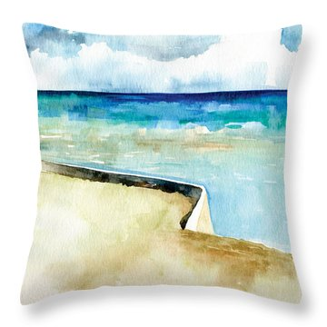 Ocean Pier In Key West Florida Throw Pillow