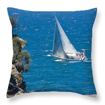 Ocean Racing II Throw Pillow by Steven Ralser