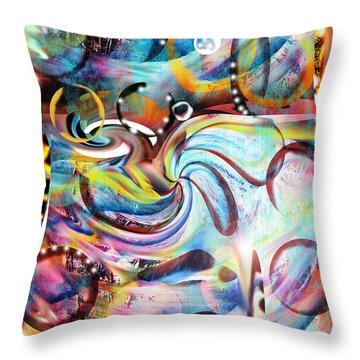 Ocean Run Throw Pillow by Yul Olaivar