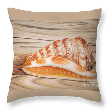 Ocean Shell Throw Pillow