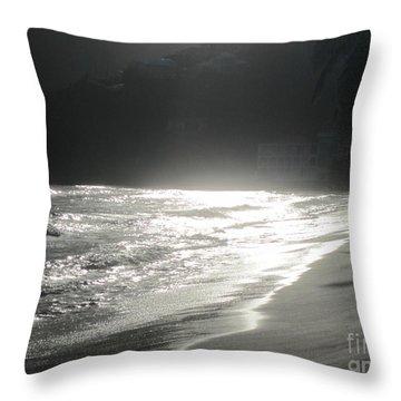 Ocean Smile Throw Pillow by Fiona Kennard