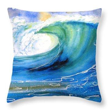 Ocean Spray Throw Pillow by Carlin Blahnik