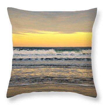 Throw Pillow featuring the photograph Ocean Sunrise  by Mindy Bench