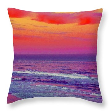 Ocean Sunset 1 Throw Pillow