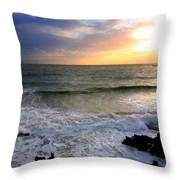 Ocean Sunset 84 Throw Pillow