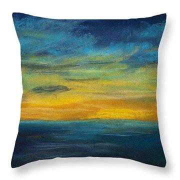 Ocean Sunset Throw Pillow by Dana Strotheide