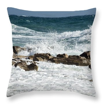Ocean Surf Throw Pillow by Darleen Stry