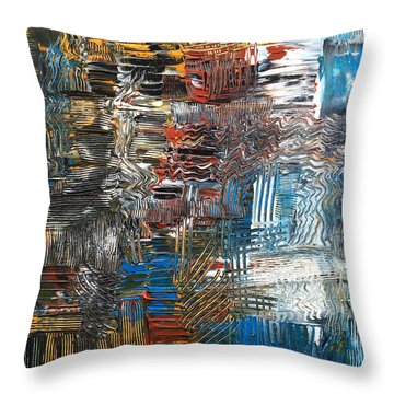 Throw Pillow featuring the painting Ocean Tide by Rebecca Davis