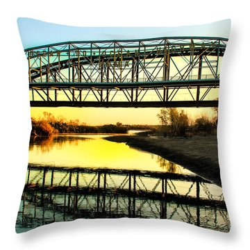 Ocean-to- Ocean Bridge Throw Pillow by Robert Bales