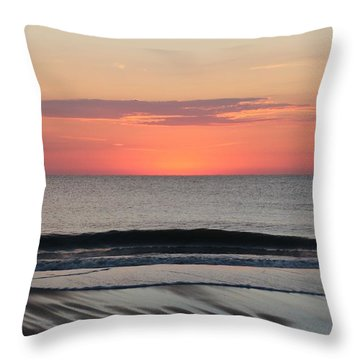 Throw Pillow featuring the photograph Ocean Trails by Robert Banach