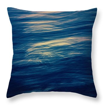 Throw Pillow featuring the photograph Ocean Twilight by Ari Salmela