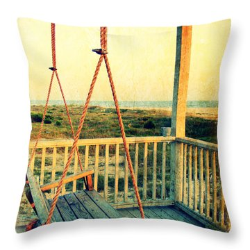 Ocean View At Oak Island 2 Throw Pillow