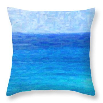 Ocean View Throw Pillow by Kenny Francis