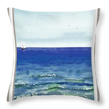 Ocean View Window Throw Pillow
