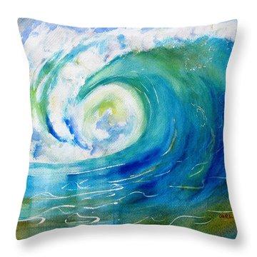 Ocean Wave Throw Pillow by Carlin Blahnik