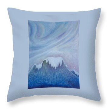 Ocean Wave Throw Pillow by Micah  Guenther