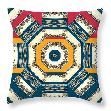 Ocean Waves Mandakal 01cm22 Throw Pillow by Aimelle