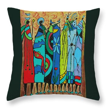 Throw Pillow featuring the painting Oceania by Clarity Artists