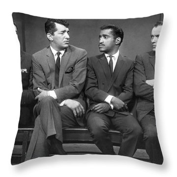 Ocean's Eleven Rat Pack Throw Pillow by Underwood Archives
