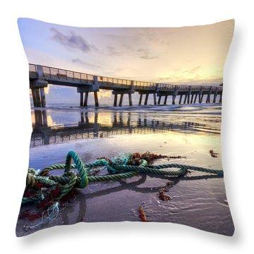 Ocean's Gift Throw Pillow by Debra and Dave Vanderlaan