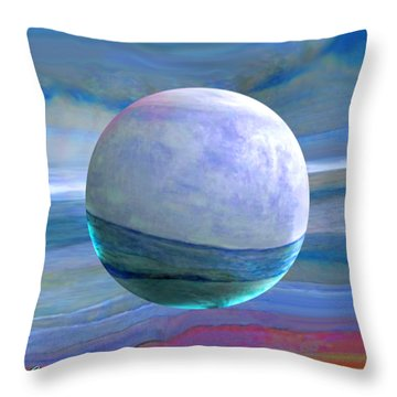 Throw Pillow featuring the painting Oceans by Robin Moline