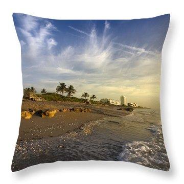 Ocean's Soft Light Throw Pillow