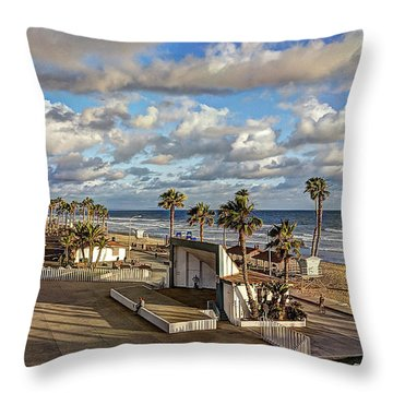 Oceanside Amphitheater Throw Pillow
