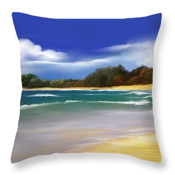 Throw Pillow featuring the digital art Oceanside Dream by Anthony Fishburne
