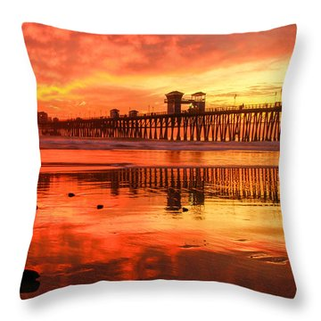 Oceanside Fire Throw Pillow