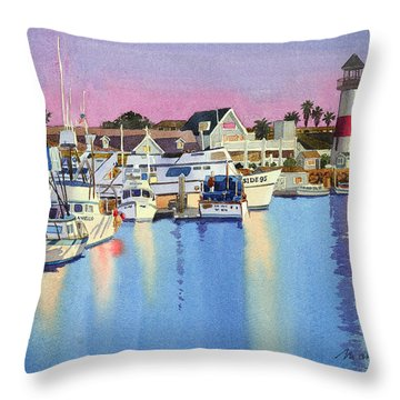 Harbor Scene Throw Pillows