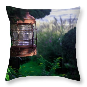 Oceanside Lantern Throw Pillow