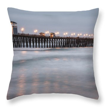 Oceanside Pier 1 Throw Pillow