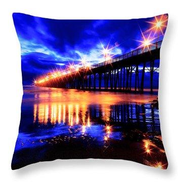 Oceanside Pier 4 Throw Pillow
