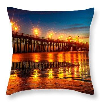 Oceanside Pier 2 Throw Pillow