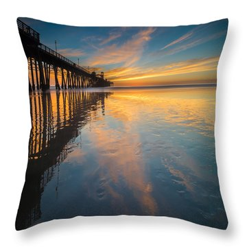 Oceanside Reflections 2 Square Throw Pillow