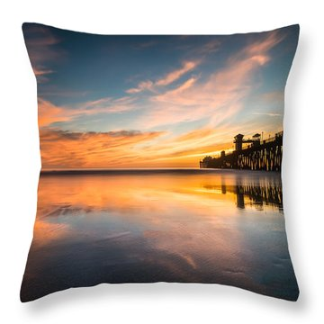 Oceanside Reflections 3 Throw Pillow