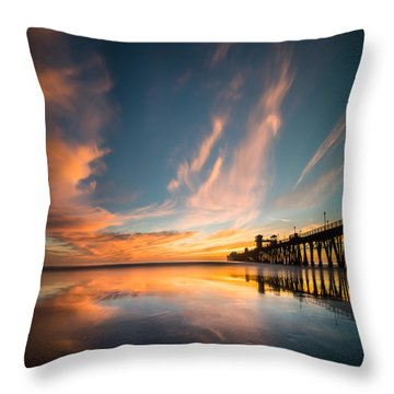 Oceanside Reflections 3 Square Throw Pillow