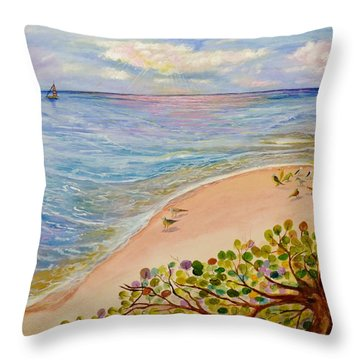 Seaside Grapes Throw Pillow