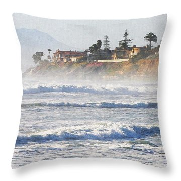 Oceanside California Throw Pillow by Tom Janca
