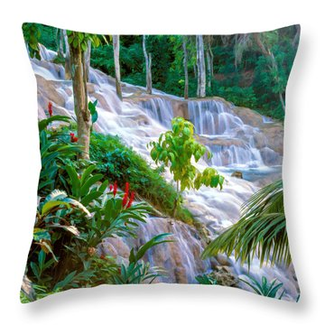 Ocho Rios Jamaica Throw Pillow
