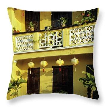 Ochre Building 01 Throw Pillow