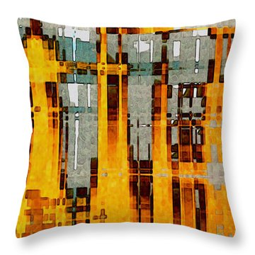 Ochre Urbanity Throw Pillow